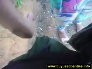 This chick loves doing naughty things in public and she loves pantyjob tease