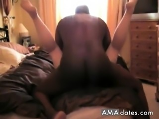 Black guy in deep bonding with white pussy