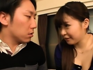 Large boobs asian playgirl likes cock between her knockers