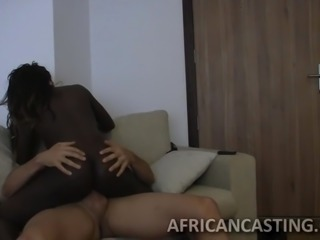 Monster cock filling black pussy