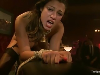 Enslaved chicks suck dicks and get fucked hard