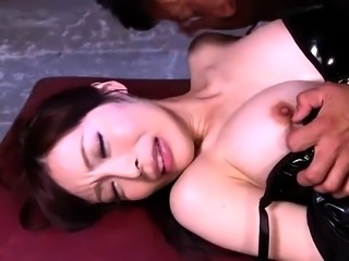 Helpless Asian girl in big tits enjoys hardcore sex action