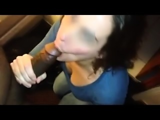 Striking blonde wife with a wonderful ass rides a black dick