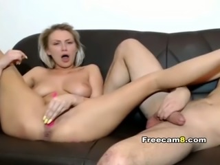Awesome Blonde Babe Blowjob her BF