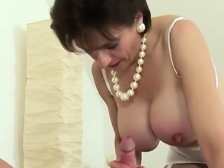Unfaithful english milf lady sonia flashes her heavy melons0