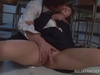 Ardent banging with salacious Japanese college girl Ayumi Kimino