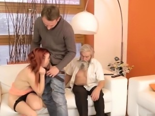 Two old men fuck Unexpected experience with an older