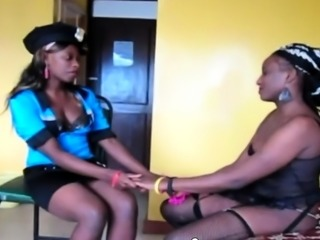 Nigerian Lesbians In Police Uniform Real Amateur Sex