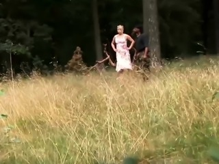 german Milf interracial outdoor banged