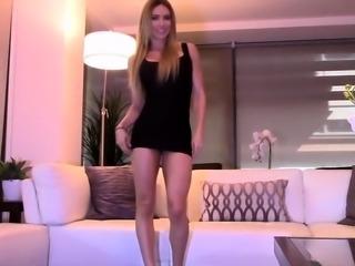 Hot homemade masturbation solo featuring real amateur