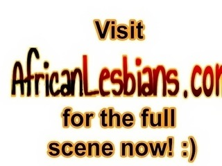 Sizzling hot African babes meet up on the street and
