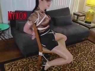 Nyxon Chair Tied and Tape Gagged