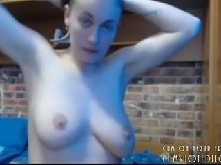Submissive Brunette Deepthroating Fat Cock