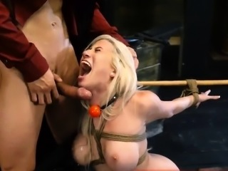 Blonde slave training first time Big-breasted towheaded hott