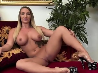 Smoking hot girls share a big dick