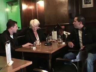 They pick up and fuck very old boozed woman