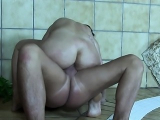 Submissive mature wife is dominated by his cock