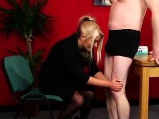 Amateur nurse jerks dick