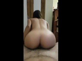 Babe With A Perfect Butt Riding Her Lover - pov