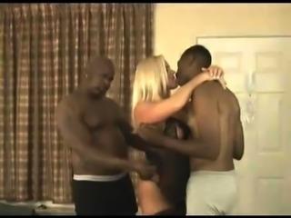 Sexy amateur blonde mature milf wife interracial