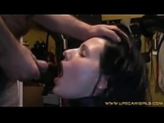 Put a collar on his wife and makes her drink his urine www.lifecamgirls.com