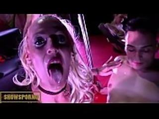 Italian pornstars orgy on stage