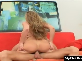 Some lucky stud picked up the adorable, long blonde haired MILF