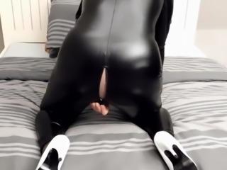 Latex catsuit solo