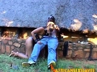 Real African Teen Tied Up and Punishd