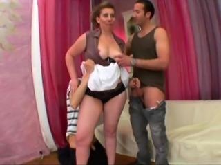 French mom Aurelie gangbanged