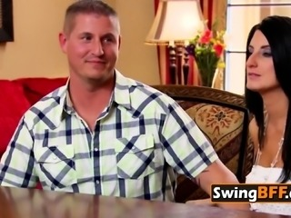 Swinger husband is ready to share wife