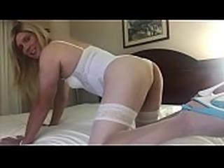 Jessica Jasmine plays in white lingerie
