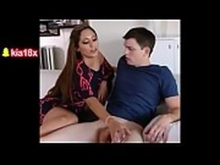 Hot Mom Gives Handjob to Step Son