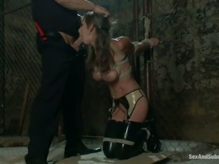 Filthy and busty hun Felony gets tortured  and banged deep!