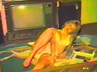 Vintage homemade striptease porn from a pretty blonde wife