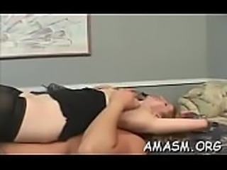 Appealing women enduring femdom action in home clip