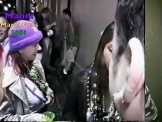 Mandi at Mardi Gras 2001