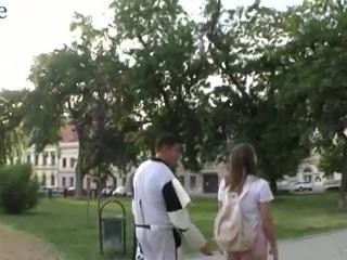 Lewd star war patrol trooper wins a chance to fuck juicy babe