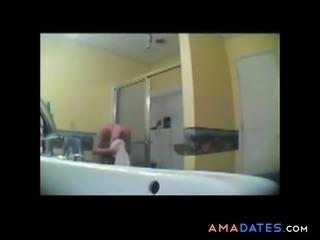 Spying A Girlfriend  In Bathroom BVR