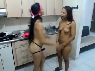 Latin lesbian teens 69 on webcam