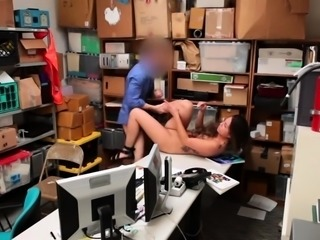 Hot shoplifter made to fuck officer