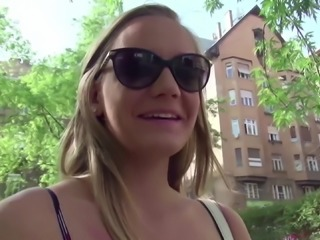 GERMAN SCOUT - SKINNY TEEN LUCETTA GET FIRST ANAL AT CASTING