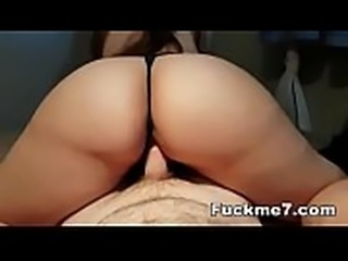 Young sexy College girl lets Professor cum in her mouth after class