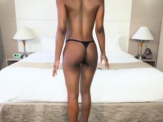 Busty Ebony babe wants to be a pornstar