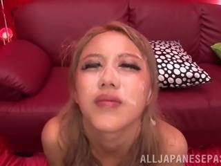 Asian bukkake