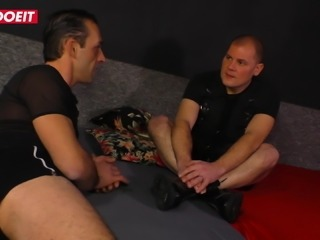 LETSDOEIT - Cute German Blonde Fantasy Threesome Sex