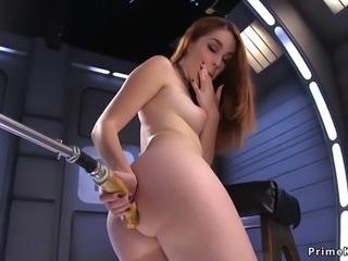 Redhead babe masturbates and play with fucking machine on snapchat: jbae.69