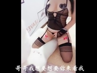 Chinese, brother, I want to sit on you and fuck you slowly,