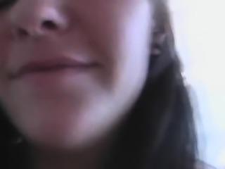 Adorable brunette babe Rachel bounces on fuck stick