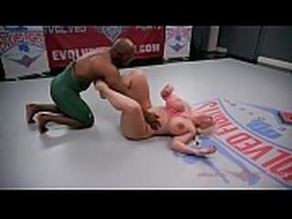 The power of Alura Jenson wrestling Will Tile is impressive